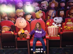 Sarah at a movie theater in Florida. 2015 age 9